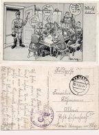 Soldats Jouant Aux Cartes - Illustration De Barlog  (Prisonnier De Guerre ?)   (91186) - Cartes à Jouer