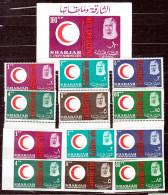 SHARJAH 1963  RED CROSS 2 X SET + SHEET MNH             RED CROSS  +++++ - Sharjah