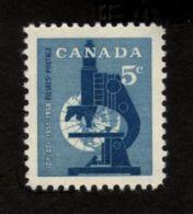 CANADA 1958, # 376.  INTERNATIONAL GEOPHYSICAL YEAR ; MICROSCOPE   MNH