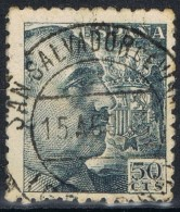 Sello 50 Cts Caudillo, Fechador SAN SALVADOR De VIAÑA (Gerona), Num 927 º - 1931-Today: 2nd Rep - ... Juan Carlos I