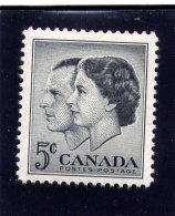 CANADA 1957, #374   MNH,  ROYAL VISIT Of QUEEN ELIZABETH 11 & PRINCE PHILLIP            MNH
