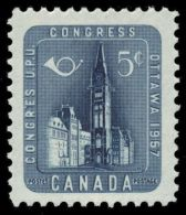 CANADA 1957, MINT #371, UPU CONGRES: PARLIAMANT BUILDING,   ,  M NH