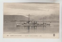 """CPSM TRANSPORT BATEAU DE GUERRE - Marine Nationale Française Contre Torpilleur """"CAVALIER"""" - Guerre"""
