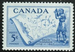 CANADA 1957, #370,  MNH,  DAVID THOMPSON EXPLORER & GEOPGRAPHER   MNH