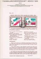 Mexico Amtliches Ankündigungsblatt  Fussballweltmeisterschaft Mexico 1986 - World Cup