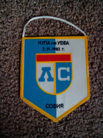 ULTRA RARE FLAG CUP UEFA 2.11 1983 LEVSKI-WATFORD CLUB BULGARIA UNIQUE - Apparel, Souvenirs & Other