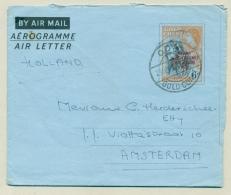 Ghana - 1957 - Overprinted Goldcoast Airletter To Amsterdam / Nederland - Ghana (1957-...)