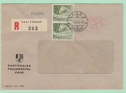 S13. EMA Freistempel 1449 Frauenspital Chur  6.11.50 - Postage Meters