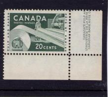 CANADA 1956, # 362, Q E 11, INDUSTRY: PAPER   SINGLE M NH