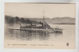 """CPSM TRANSPORT BATEAU DE GUERRE - Marine Nationale Française Contre Torpilleur """"PERTUISANE"""" - Guerre"""