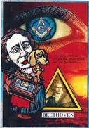 CPM Louise MICHEL BEETHOVEN Franc-Maçonnerie Masonic Teckel Dackel Caricature Tirage Limité JIHEL / LARDIE - Lardie