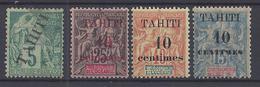 TAHITI - 1903 - N° 10 Oblitéré - 31* - 32* - 33* - B/TB - - Tahiti (1882-1915)