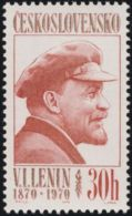 "Czechoslovakia / Stamps (1970) 1827: 100 Anniversary Vladimir Ilyich Ulyanov ""Lenin"" (1870-1924) Painter: Ladislav Jirka"