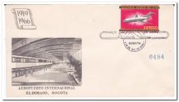 Colombia 1966, Airport International El Dorado, Bogota, Airplane - Colombia