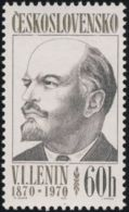 "Czechoslovakia / Stamps (1970) 1828: 100 Anniversary Vladimir Ilyich Ulyanov ""Lenin"" (1870-1924) Painter: Milan Hegar"