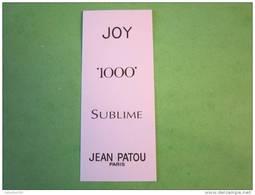 PATOU - Carte Parfumée - Perfume Cards