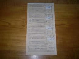 Fiscal, Vignette PTT; Cotisations Des Assurances Sociales 1939 Année Complète 4 Trimestres.cachet Marsanne Drôme - Revenue Stamps