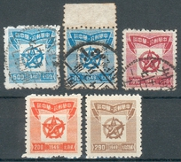 China-Mittelchina Mi.-Nr.103 Typ I+II O, 104o, 100/01 (*), Feinst/pracht - 1949 - ... People's Republic