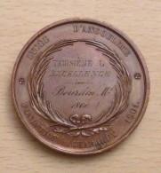 BELLE MEDAILLE PRIX D EXCELLENCE 1860 LYCEE D ANGOULEME Attribuée à BOURDIN - France