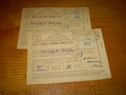 Fiscal, Vignette PTT; Cotisations Des Assurances Sociales 1943, 1er & 2ème Trimestres.cachet Marsanne Drôme - Fiscaux