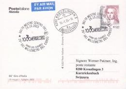 Italy Card P/m Mestre Centro 2003 Anno Dei Disabili 20. Dei Millemetri Del Corso (G86-64) - Ciclismo