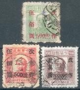 China-Nordost Lot Mit 3 Werten Mi.-Nr.112 O,115 O,153 O, Pracht - 1912-1949 Republic