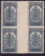 Mexico (Sc # C-70 Gutter Block Of 4), MNH, (Single Of Set)  Aztec Bird Man  (1934) - Mexique
