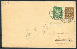 1924 Deutsches Reich Koln Messe Postcard - Deutschland