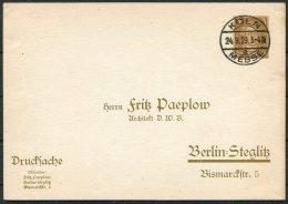 1929 Deutsches Reich Koln Messe Postcard - Deutschland