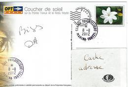12277  COUCHER De SOLEIL Sur La POINTE VÉNUS - MAHINA - TAHITI - POLYNÉSIE 8/11/2012 - Prêt-à-poster