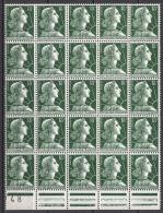 FRANCE 1955 - BLOC DE 25  Y.T. N° 1011A - NEUF** 61 - Unused Stamps