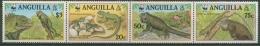 Anguilla 1997 WWF: Grüner Inselleguan 988/91 ZD Postfrisch (C71537) - Anguilla (1968-...)