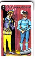 """Carte à Jouer Extraite Du Jeu Mariage """"mots Humoristiques"""" IL EST ENCORE PLUS GRAND MORT QUE VIVANT  HENRI 3 BLOIS 1588 - Speelkaarten"""
