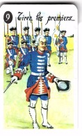 """Carte à Jouer Extraite Du Jeu Mariage """"mots Humoristiques"""" TIREZ LES PREMIERS  FONTENOY 1745  NAPOLEON BONAPARTE 1798 - Barajas De Naipe"""