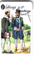 """Carte à Jouer Extraite Du Jeu Mariage """"mots Humoristiques"""" LABOURAGE ET PATURAGE SONT LES ....HENRI 4 ET SULLY 1589/1610 - Barajas De Naipe"""