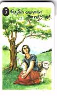 """Carte à Jouer Extraite Du Jeu Mariage """"mots Humoristiques"""" VA FAIRE COURONNER TON ROI   DELIVRER ORLEANS  JEANNE D ARC - Speelkaarten"""