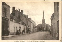 44  LIGNE - Route De Nord Et Place De L' Eglise - Ligné