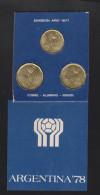 O) 1978 ARGENTINA,  WORLD CUP 1978 - FOOTBALL,COINS COPPER ALUMINUM NICKEL,XF - Monnaies