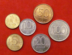 1992-1993 Russia Set Of 1, 5,10, 20, 50 & 100 Roubles XF-UNC - Rusia