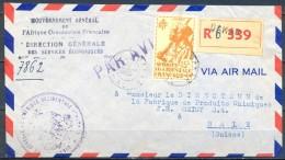 1946 , SENEGAL , CERTIFICADO CIRCULADO ENTRE DAKAR Y BASILEA , CORREO AÉREO , GOBIERNO GENERAL DEL AFRICA OCCIDENTAL FR. - Sénégal (1887-1944)