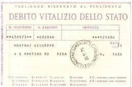 ITALIA - ITALY - ITALIE - 1976 - Debito Vitalizio Dello Stato - PISA - Azioni & Titoli