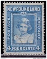 Newfoundland 1938, Princess Elizabeth, 4c, Scott# 247, Used - 1908-1947