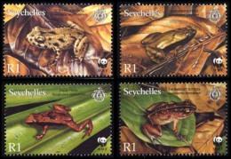(WWF-321) W.W.F Seychelles Frogs MNH Stamps 2003 - W.W.F.