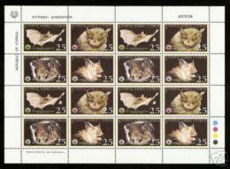 (WWF-325) W.W.F Cyprus Bat MNH Perf Sheetlet 2003 - W.W.F.