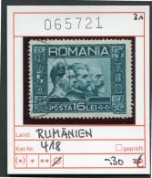 Rumänien - Roumanie - Romina - Rominia - Michel 418 - Oo Oblit. Used Gebruikt - - Gebraucht