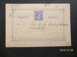 Espana: 1876 Postal Card To Cardoba (#NG13)
