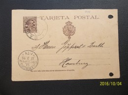 Espana: 1895 Postal Card To Hamburg (#NG15)