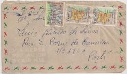 Cover Circulated - 1955 - Angola (Luanda) To Portugal (Porto) - Air Mail - Angola