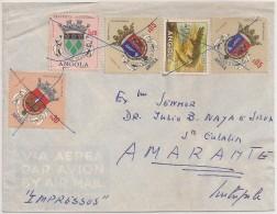 Cover Circulated - 1955 - Angola To Portugal (Amarante) - Angola