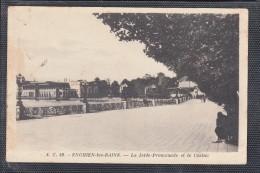 ENGHIEN Les BAINS     CPA    La Jetee   Le 24 II 1945   Cachet PARIS-NORD-PROVINCE  Timbre PETAIN - Enghien Les Bains